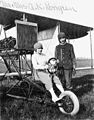 Longren and wife with airplane (2552191329).jpg