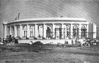 Arlington Memorial Amphitheater - Memorial Amphitheater under construction in 1917.