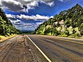 Looking southwest towards Talimena Scenic Drive, Quachita Mountains, Oklahoma - panoramio.jpg