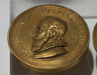 Keith Medal - Lord Kelvin's Keith medal in the Hunterian Museum, Glasgow
