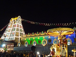 Lord Venkateswara on Gaja Vahanam..JPG