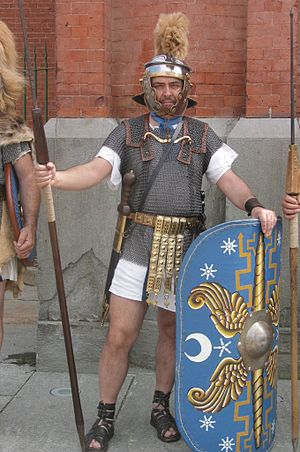 Lorica hamata - Reconstruction of Roman legionary.