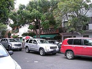 Colonia Algarín - View of the Los Tolucos pozole restaurant on Juan E. Hernández y Dávalos Street