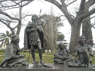 Uruguay - Monument to Charruas native people in Montevideo