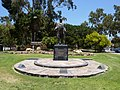 Los Angeles, CA, Griffith Park Entrance, Griffith Griffith Statue, 2010 - panoramio.jpg