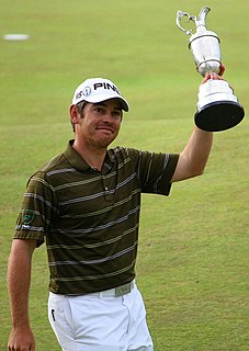 Louis Oosthuizen South African professional golfer