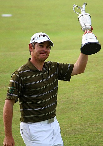 Louis Oosthuizen - Oosthuizen after winning the 2010 Open Championship at St Andrews.