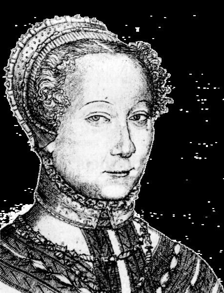 Louise Labé - Gravure de Pierre Woeiriot (1555)