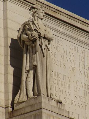 English: Statue by Louis St. Gaudens, outside ...