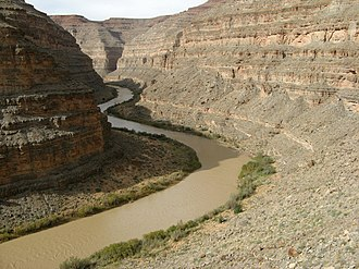 San Juan River (Colorado River tributary) - The lower San Juan River, Utah