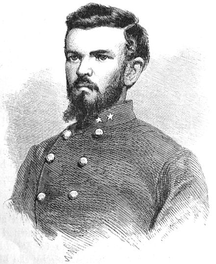 Lt. Col. William Chapman, who with six shots emptied five Yankee saddles, wood engraving 1867[13] - 43rd Battalion Virginia Cavalry