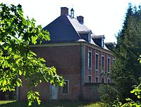 Lubbeek - Dekenij, dubbelhuis 1757 (linker zijgevel)