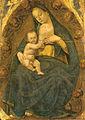 Luca signorelli, stendardo della flagellazione, madonna del latte in gloria.jpg
