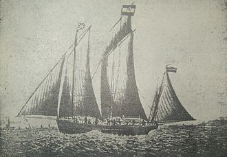 Lugger - 1882 French lugger Łucja-Małgorzata