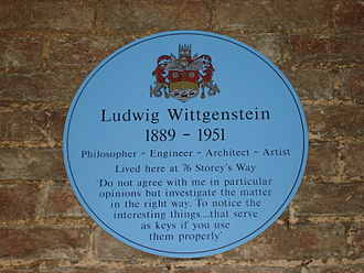 Storey's Way - Ludwig Wittgenstein spent the last months of his life at 76 Storey's Way, then the home of his doctor, Edward Bevan.