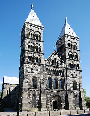 Diocese of Lund - Lund Cathedral, the seat of the Archbishop of Lund.