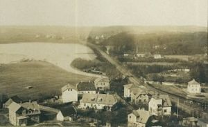 Lyngby Lake - Early houses on the lake shore in 1904