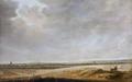 Målning. Landskap med sädesfält. Salomon van Ruysdael - Hallwylska museet - 86743.tif