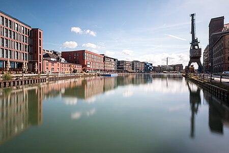 Harbour, Münster, North Rhine-Westphalia, Germany