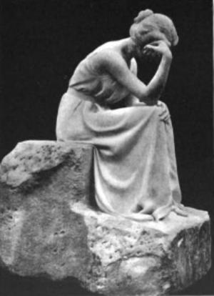 Marie-Antoinette Demagnez - Image: M. A. Demagnez Melancolie sculpture