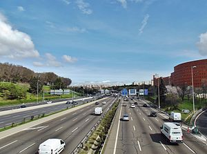 Autopista de Circunvalación M-30 - Image: M30 junto al Ruedo