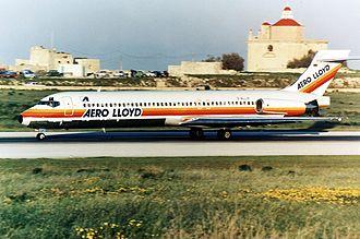 Aero Lloyd - An Aero Lloyd McDonnell Douglas MD-87 at Luqa, Malta. (1990s)