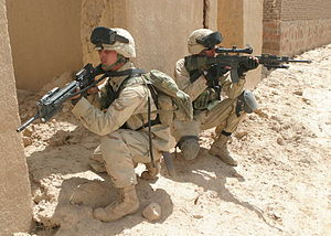 22nd Marine Expeditionary Unit - Marines from BLT 1st Battalion 6th Marines in Oruzgan province, Afghanistan in May 2004