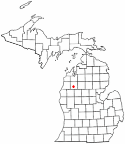 Location of Boon Township in Michigan