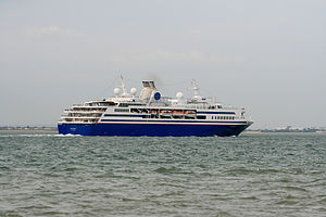 Semester at Sea - MV Explorer departing Southampton June 2013.