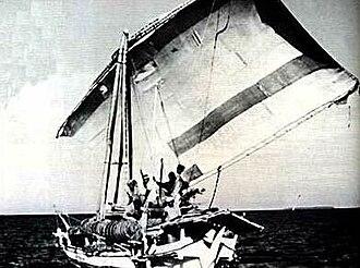 Makassan contact with Australia - A Macassan perahu or prau.
