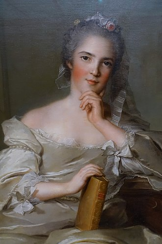 Henriette of France (1727–1752) - Close-up of portrait by Jean-Marc Nattier protraying Henriette as the fire