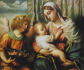 Madonna with child and an angel