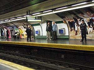 Alonso Martínez (Madrid Metro) - Image: Madrid Metro flickr 1