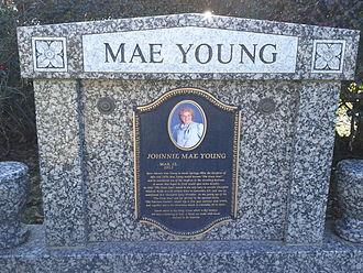 Mae Young - Mae Young's gravestone in Columbia, South Carolina