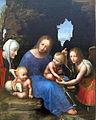 Maestro della madonna della bilancia, madona col bambino, s.elisabetta e s.michele, 1510 ca. 02.JPG