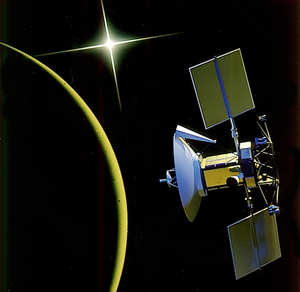 Magellan (spacecraft) - Artist's depiction of Magellan at Venus
