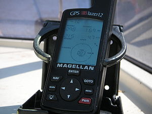 Commercial use of space - Magellan GPS receiver in a marine application.