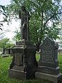 Maggie Schusler and John Peter Schusler monuments, Allegheny Cemetery, 2015-05-12.jpg