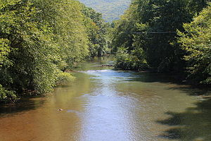 Mahanoy Creek - Mahanoy Creek in Little Mahanoy Township, Northumberland County