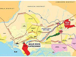 DHA City - Malir Motorway plan