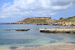 Ġnejna Bay bay in Mġarr, Malta