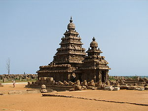 Kanchipuram district - The Shore Temple in Mahabalipuram  - a UNESCO World Heritage Site