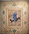 Man riding a donkey - Iran - early 17th century - Sadiqi Beg Afshar - Louvre - OA 7139.jpg