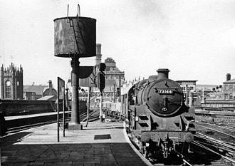 Manchester Exchange railway station - Eastbound goods train in 1966