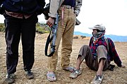 Maoist rebels on a hill in Nepal