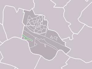 Tull en 't Waal - Image: Map NL Houten Tull en 't Waal