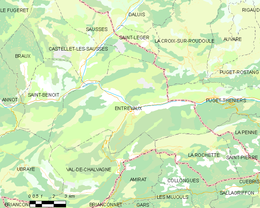 Entrevaux – Mappa