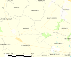 Map commune FR insee code 32232.png