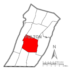 Map of Belfast Township, Fulton County, Pennsylvania Highlighted.png