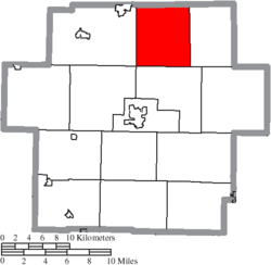 Location of Augusta Township in Carroll County